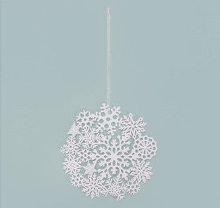Winter White Hanging Snowflake