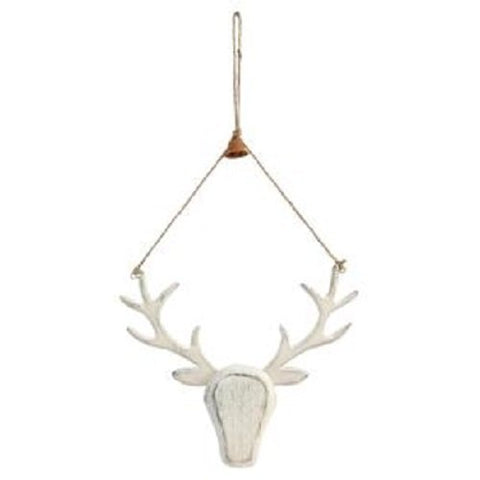 Wooden Stag Reindeer Hanging Decoration