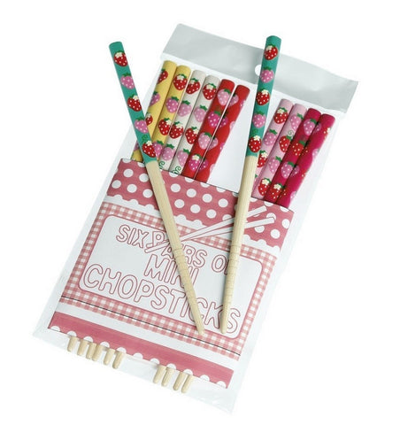 Strawberry Mini Chopsticks: Set of 6
