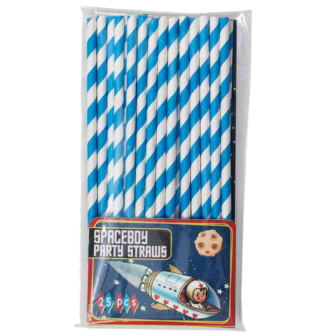 Straws: Red, Blue or Pink - Packs of 25