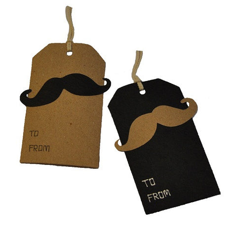 Gift Tags: Pair of Moustache Tags