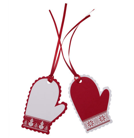 Christmas Gift Tags or Place Cards: Mittens - Set of 8