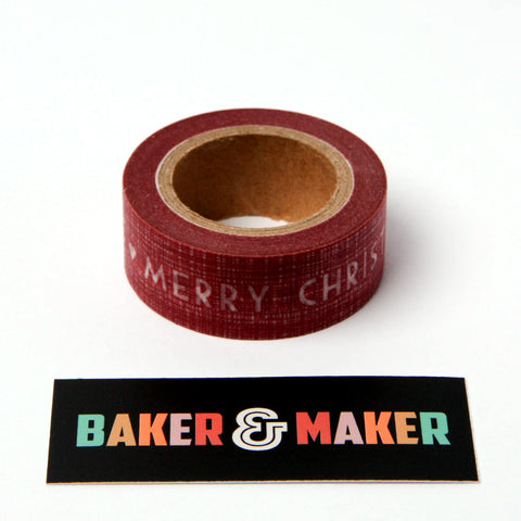 Tape: Washi Style Masking Tape Merry Christmas
