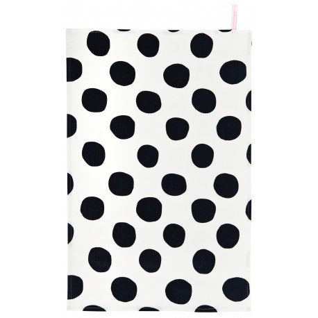 Tea Towel: Pois Black