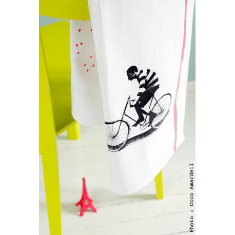Tea Towel: Velo Black - La Cerise Sur Le Gateau