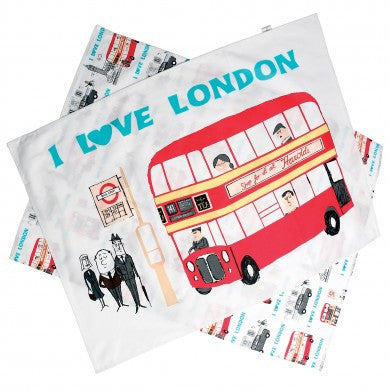 Tea Towels: Set of 2 I Love London