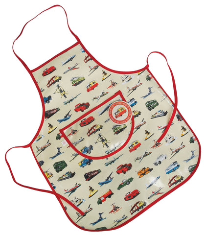 Apron: Children's Vintage Transport - Wipe Clean