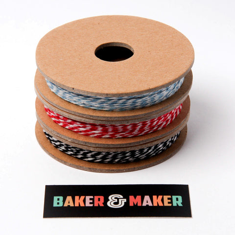Baker's Twine Reel: Red, Blue or Black 12m