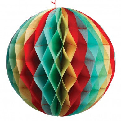 Honeycomb Party Ball Decoration: Vintage Colours