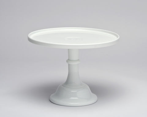 Milk Glass Cake Stand: White