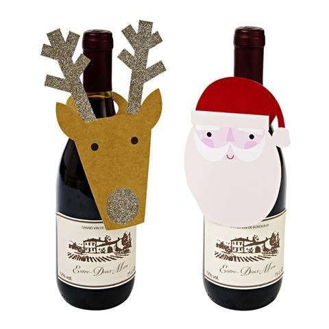 Christmas Wine Tags: Pack of 6