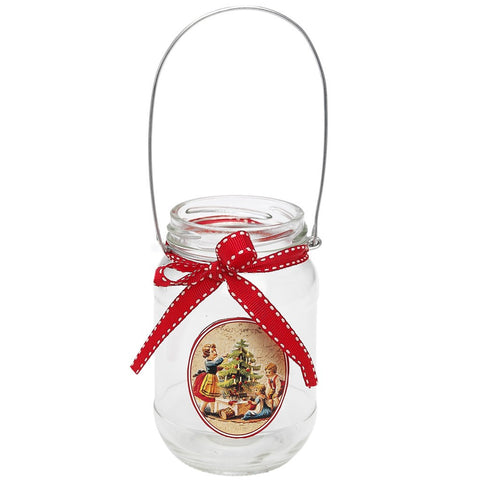 Christmas Hanging Jar Tea Light Holder