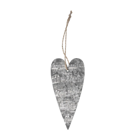 Zinc Heart Hanging Decoration