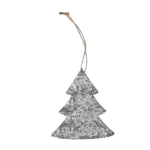 Christmas Tree Hanging Decorations Zinc