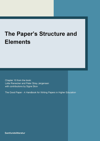 The paper's structure and elements