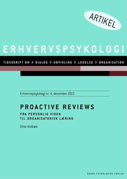 Proactive review