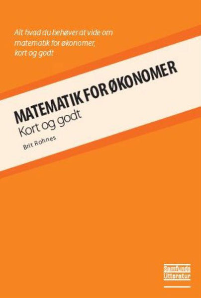 Matematik for økonomer