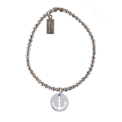 Solid Sterling Anchor Charm Bracelet