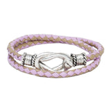 Signature Easton Lavender Leather Wrap