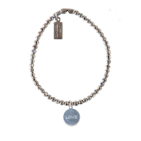 Solid Sterling LOVE Charm Bracelet