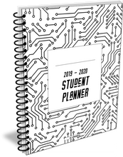 Load image into Gallery viewer, 2020 - 2021 Student Planner in circuit design