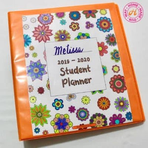 Cover Page for Flower Student Planner Deluxe