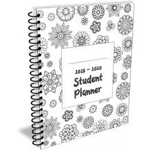 Load image into Gallery viewer, 2020 - 2021 Student Planner in Flower design