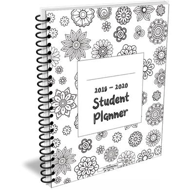 2020 - 2021 Student Planner in Flower design