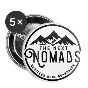 Nomads Buttons Small 1'' (5-pack) - white
