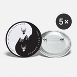 Vibe Tribe 2 Buttons Small 1'' (5-pack) - white