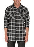 Crawford Denim Black Plaid Western Shirt