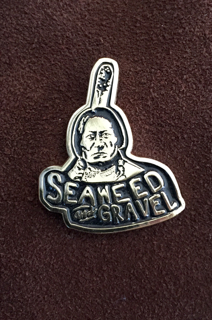 "Pin ""Sitting Bull"" from Seaweed & Gravel"