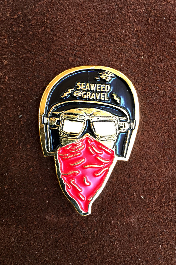 "Pin ""Helmet Head"" from Seaweed & Gravel"