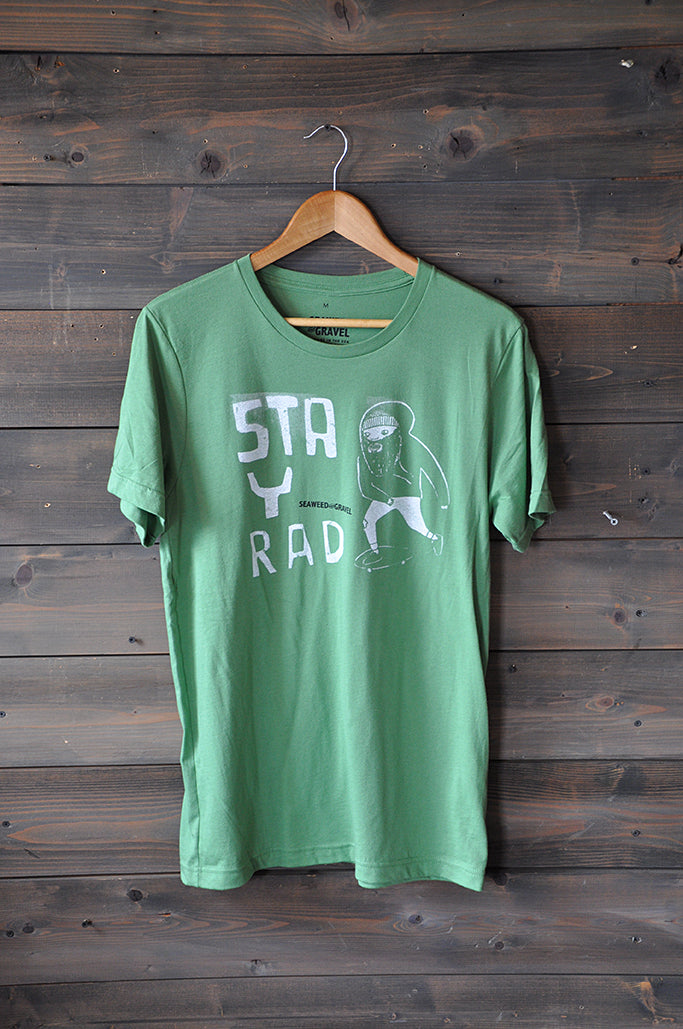 "Tee ""Stay Rad"" Shop Tee Green"
