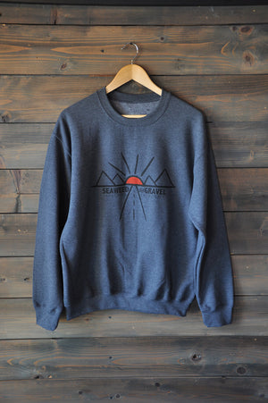 "Crew Sweatshirt ""Get Lost"" Charcoal Grey Heather"