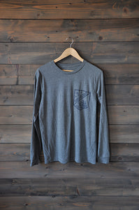 "Tee L/S ""Pocket Sailor"" H. Grey"