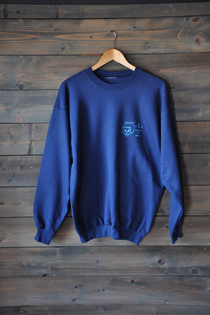 "Crew Sweatshirt ""Good Luck"" Navy"