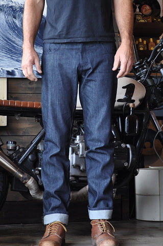 Denim Seaweed and Gravel Mens Straight Jeans