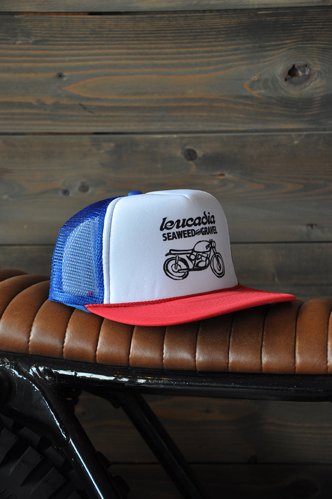 "Cap Trucker ""Leucadia"" Red/White/Blue"