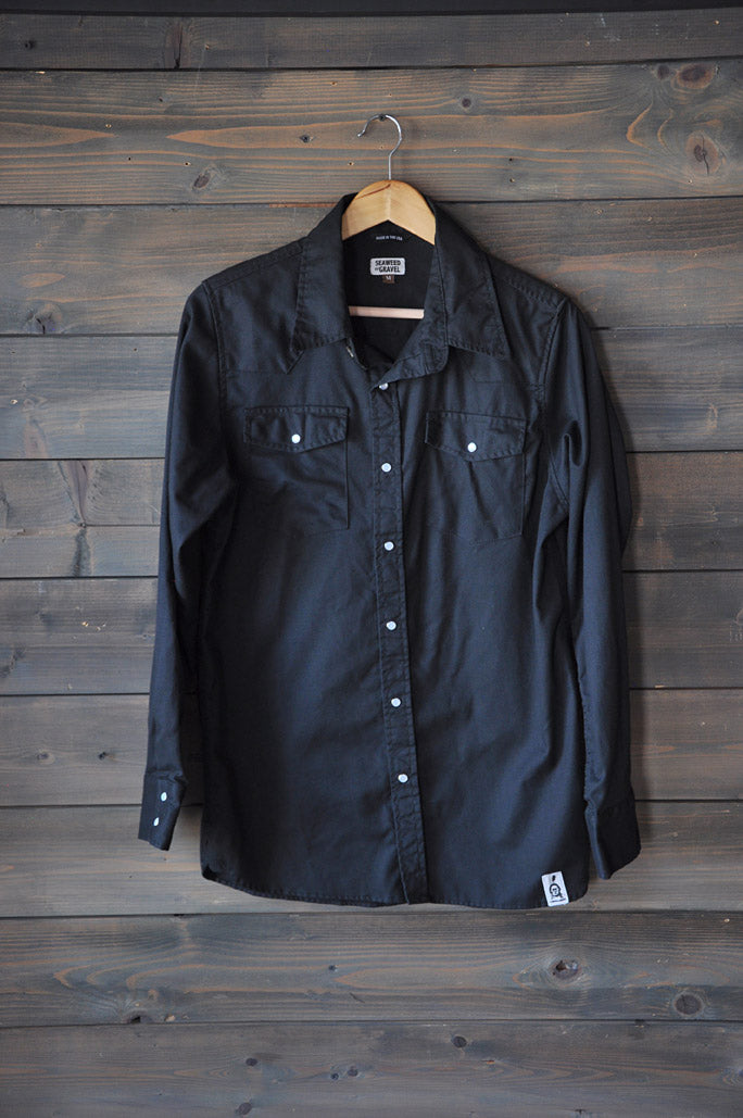 Seaweed Western L/S Button Down Black