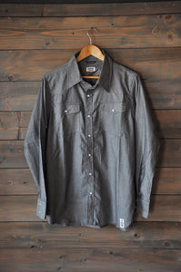 Seaweed Western L/S Button Down Charcoal Grey