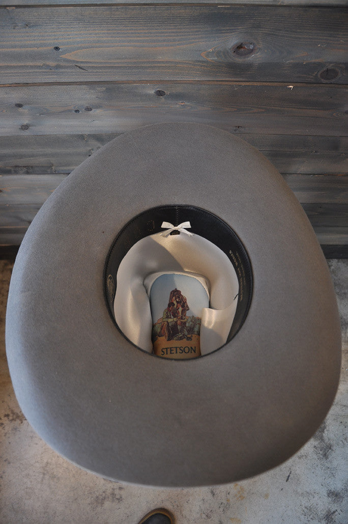 "Hat Vintage 70's ""Stetson"" Grey Tall 6-7/8"