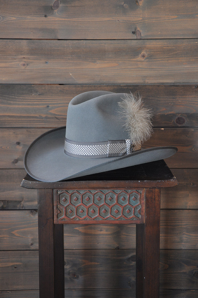 "Hat Vintage 70's ""Larry Mahan"" Grey 6-7/8"