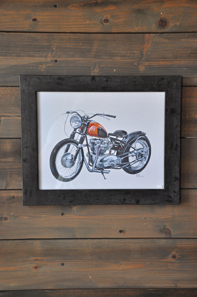 "Wall Decor ""Triumph Bobber"" Art Print"