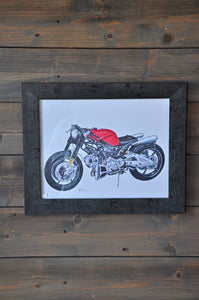 "Wall Decor ""Ducati"" Art Print"