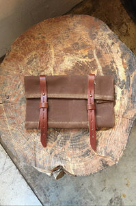 Tool Roll Canvas and Leather by Bradley Mountain Brown
