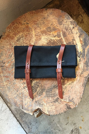 Tool Roll Canvas and Leather by Bradley Mountain Black