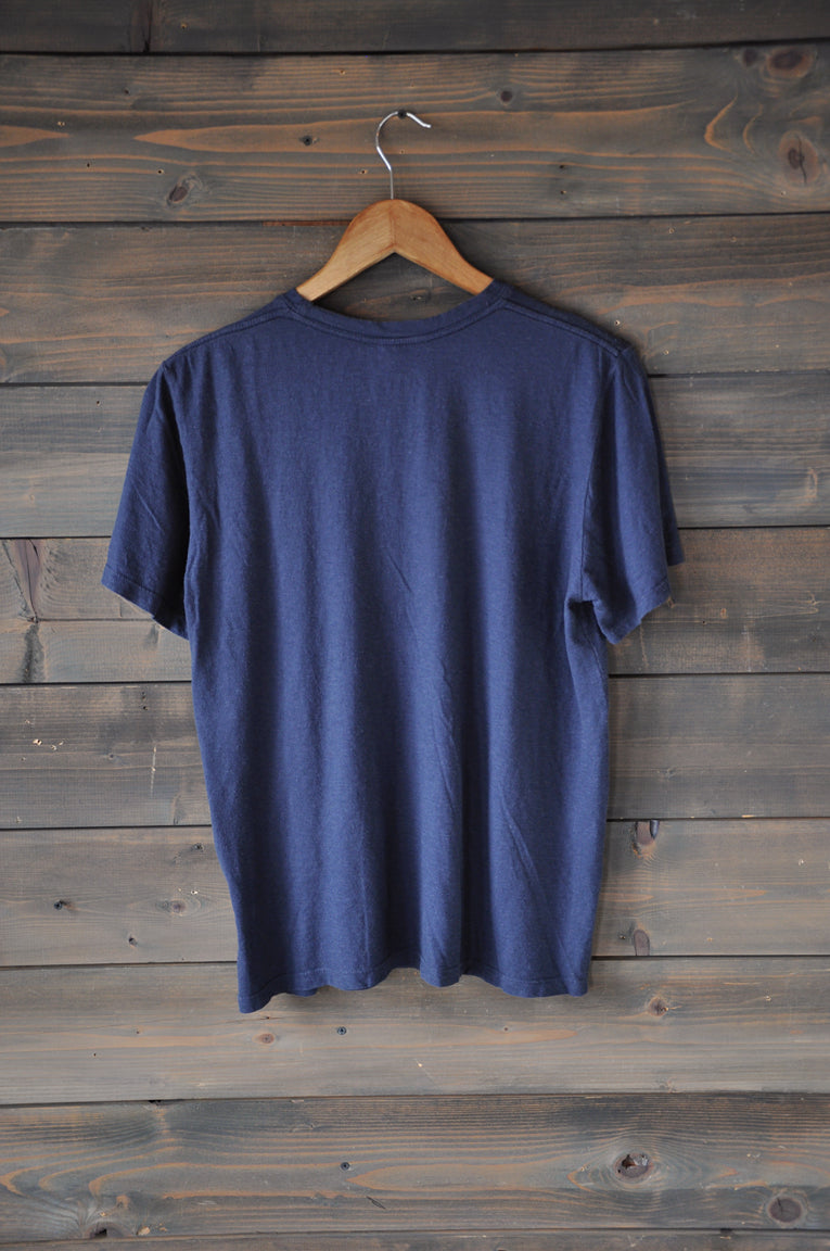"Tee ""Stars"" Navy Premium Hemp/Cotton"