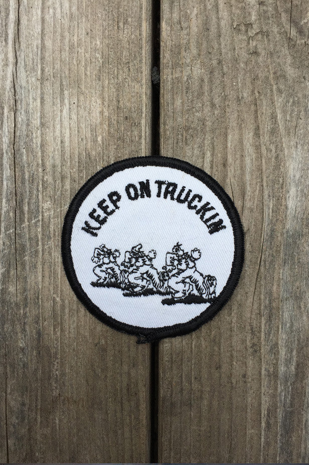 "Patches R. Crumb Authentic 70's Dead Stock ""Keep On Truckin"" Circle"