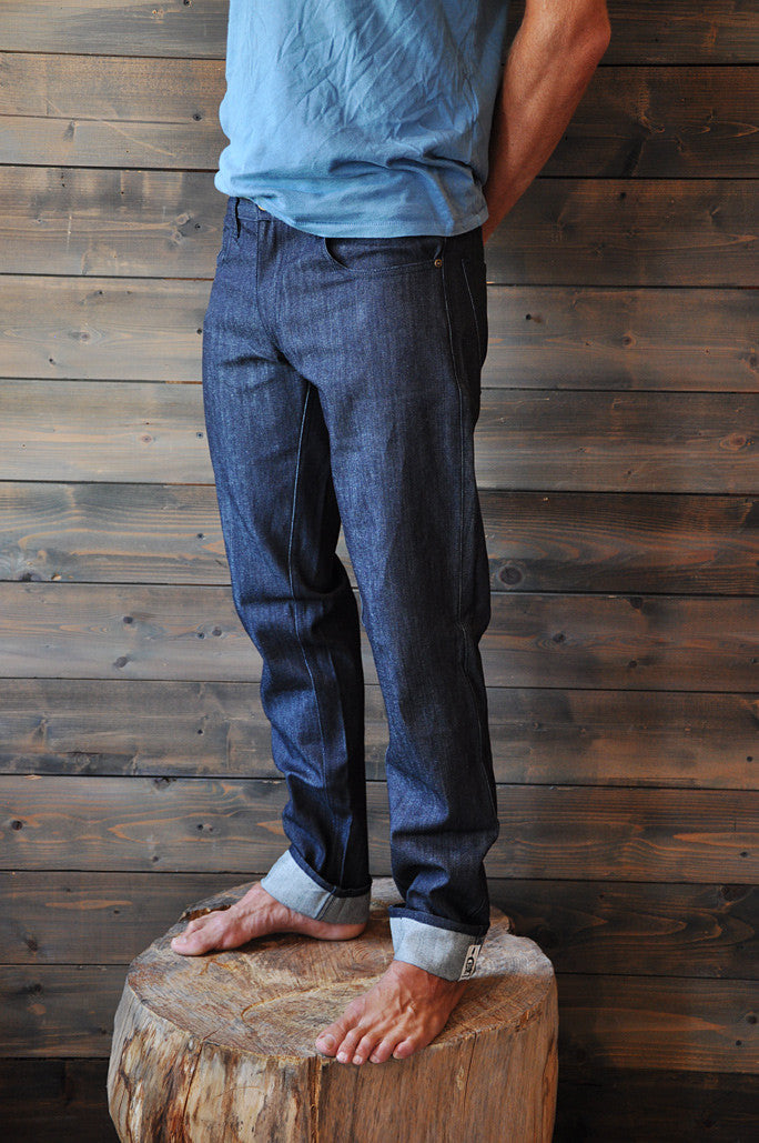 Denim Seaweed and Gravel Mens Classic Straight Jeans